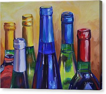 Primarily Wine Canvas Print by Donna Tuten