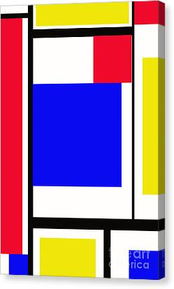 Primary Abstract Motivational Canvas Print by Tom Gari Gallery-Three-Photography