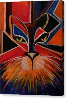 Primary Cat Canvas Print by Carolyn LeGrand