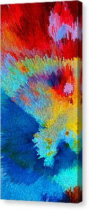 Primary Joy - Abstract Art By Sharon Cummings Canvas Print by Sharon Cummings