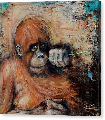 Primate Canvas Print by Jean Cormier