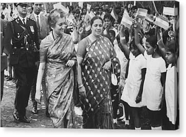 Prime Canvas Print - Prime Minister Indira Gandhi by Underwood Archives