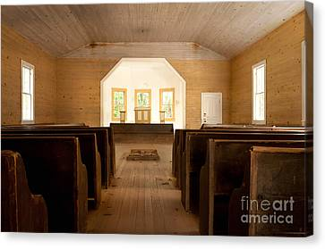 Primitive Baptist Church Canvas Print by Lena Auxier