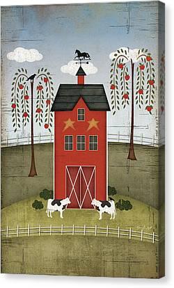 Primitive Barn Canvas Print by Jennifer Pugh