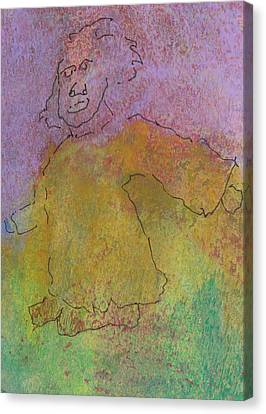 Canvas Print featuring the mixed media Primitive Giant by Catherine Redmayne