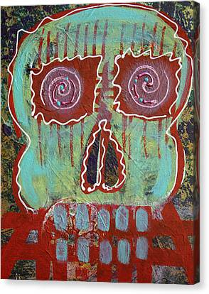 Figurative Canvas Print - Primitive Skull by Laura Barbosa
