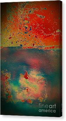 Canvas Print featuring the painting Primordial by Jacqueline McReynolds