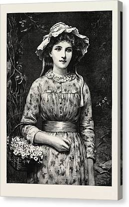 Primrose Day, Girl Canvas Print