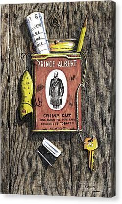 Prince Albert Nailed To The Wall Canvas Print by Bob Hallmark