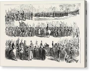 Historic Site Canvas Print - Prince Alberts Visit To Liverpool The Great Procession by English School