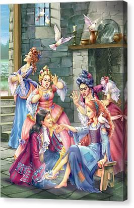 Prince And Slipper Canvas Print by Zorina Baldescu