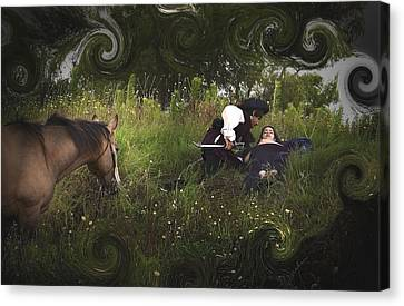 Prince And Snow White Canvas Print by Cherie Haines