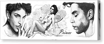 Prince Drawing Art Sketch Poster Canvas Print