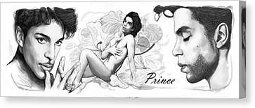 Prince Drawing Art Sketch Poster Canvas Print by Kim Wang