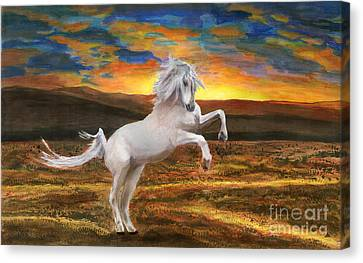 Prince Of The Fiery Plains Canvas Print by Peter Piatt