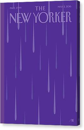 Prince Tribute Canvas Print by Bob Staake