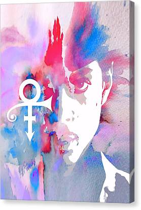 Singing Canvas Print - Prince Watercolor by Dan Sproul