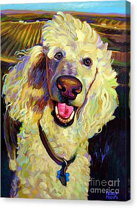 Canvas Print featuring the painting Princely Poodle by Robert Phelps