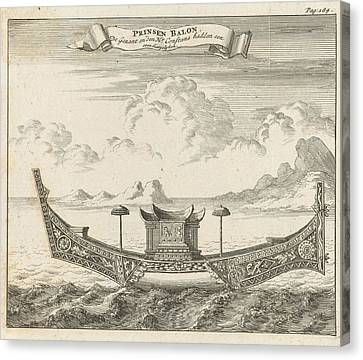 Princely Vessel In Siam Thailand, Jan Luyken Canvas Print