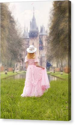 Princess And Her Castle Canvas Print