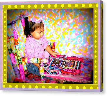 Princess Bella In The Original Magical Rocking Chair Canvas Print by Maryann  DAmico