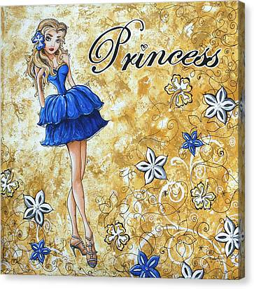 Princess By Madart Canvas Print by Megan Duncanson