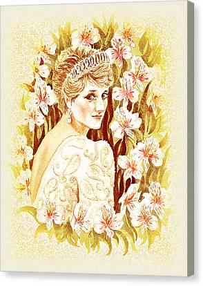Princess Diana Canvas Print by Irina Sztukowski