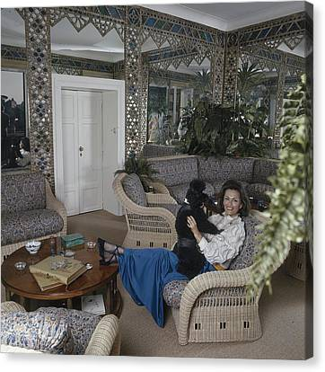 Princess Irene Galitzine With Her Poodle Canvas Print