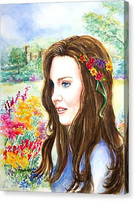 Princess Kate Canvas Print by Patricia Allingham Carlson