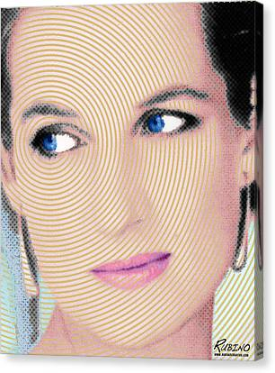 Princess Lady Diana Canvas Print by Tony Rubino