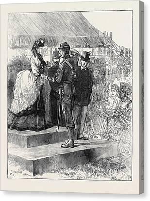 Princess Louise Presenting The Prizes At Wimbledon 1871 Canvas Print