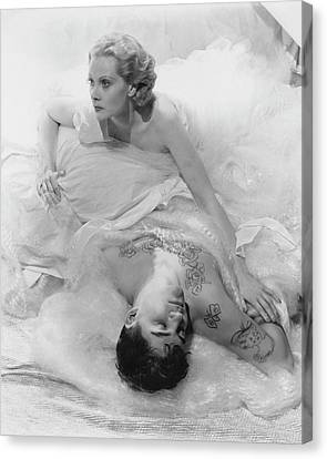 Ballet Dancers Canvas Print - Princess Natalie Paley And Victor Kraft by Cecil Beaton