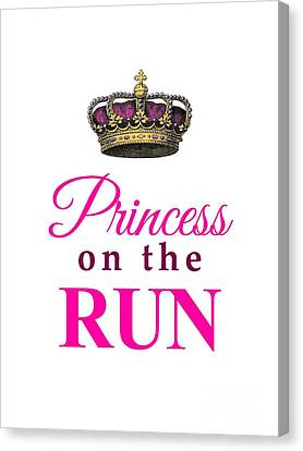 Princess On The Run Canvas Print
