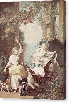 Princesses Mary Sophia And Amelia Daughters Of George IIi Canvas Print by John Singleton Copley
