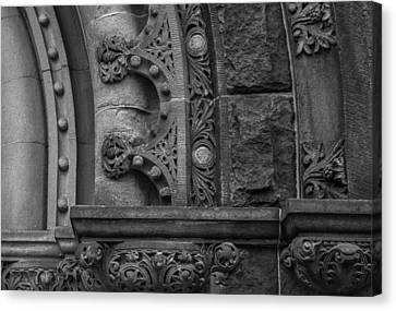 Canvas Print featuring the photograph Princeton Architectural Detail by Glenn DiPaola