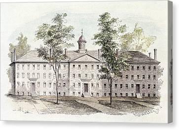 Princeton College, 1760 Canvas Print