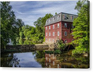 Princeton's Kingston Mill Canvas Print by Bill Cannon