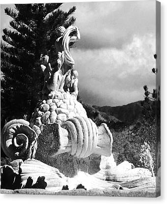 Canvas Print featuring the photograph Princeville Black And White by Alohi Fujimoto