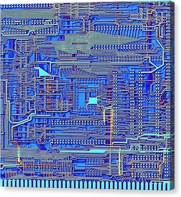 Printed Circuit Board Canvas Print by Alfred Pasieka