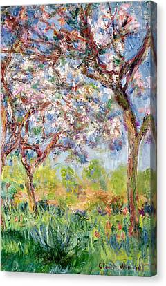 Printemps A Giverny Canvas Print by Claude Monet