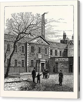 Printing House Square And The Times  Office 1870 London Canvas Print by English School