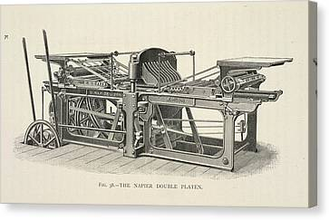 Printing Machine Canvas Print by British Library