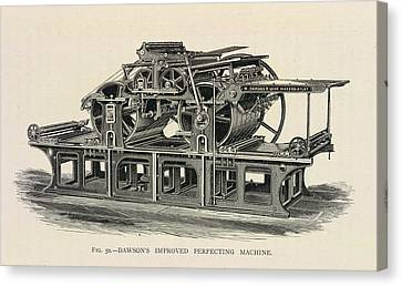 Printing Press Canvas Print by British Library