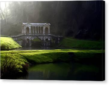 Canvas Print featuring the digital art Prior Park Bath by Ron Harpham