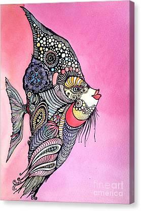 Priscilla The Fish Canvas Print by Iya Carson