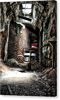 Barberchairs Canvas Print - Prison Barbershop by Bill Cannon
