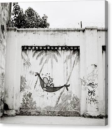 Prison Mural Canvas Print by Shaun Higson
