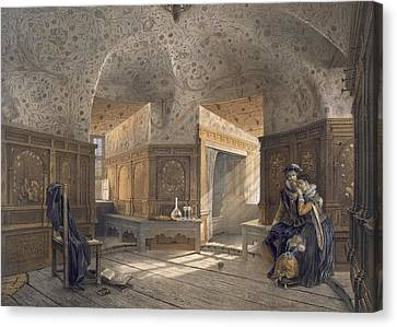 Prison Of King Erik Xiv, Son Of Gustav I Canvas Print by Karl Johann Billmark