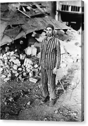 Prisoner In German Slave Labor Camp Canvas Print by Everett