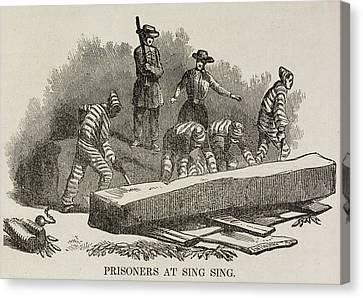 Prisoners At Sing Sing Canvas Print by British Library